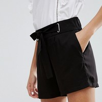 New Look Tie Waist Shorts at asos.com