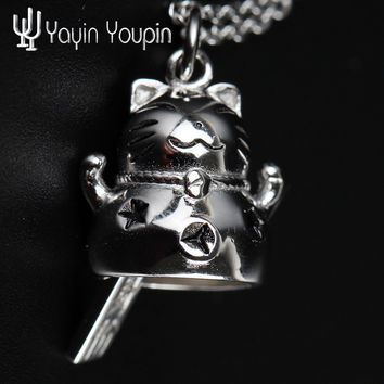 YA YIN YOU PIN S925Pure Silver Necklace Cat New Style Christmas Blessing Light Luxury Professional Silver Shop Factory Outlets
