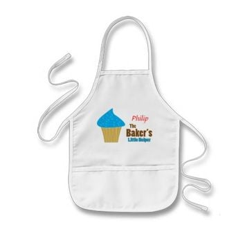 Blue Cupcake Baker's Little Helper Aprons