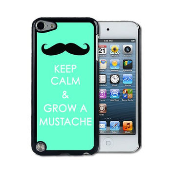IPod 5 Touch Case Thinshell Case Protective I Pod 5G Touch Case Shawnex Keep Calm Grow A Mustache