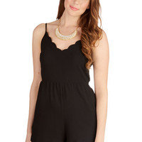 ModCloth Long Spaghetti Straps Jumper Pose for Photos Romper