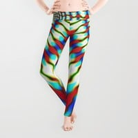 Hippie Rainbows | Colourful Hippie Love Leggings by Webgrrl