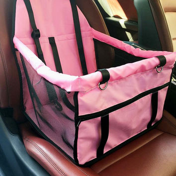 Adventure Ride Pet Booster Seat Carrier (Pink)
