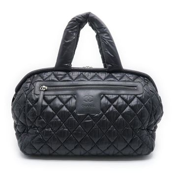 Chanel Quilted Nylon Coco Cocoon Tote Bag Black 3340