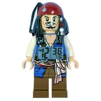 LEGO Kids' 9003615 Pirates of the Caribbean Jack Sparrow Minifigure Clock