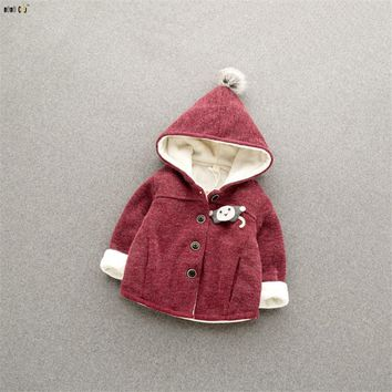 Unisex Baby Jacket And Coat Girls Boys Clothes Hoodies Thicken Winter Infant Coats Cartoon Cute Baby Boy Jackets Kids Outwear