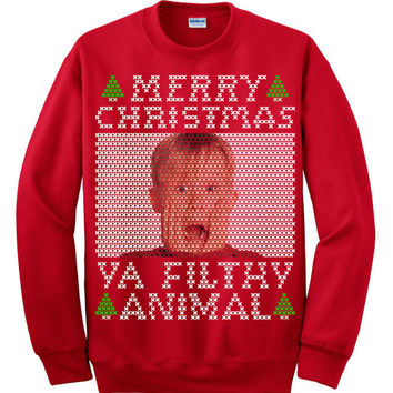 Merry Christmas Ya Filthy Animal (Scream), Ugly Christmas Sweater