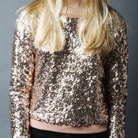 Sequin Sweater (Rose Gold)