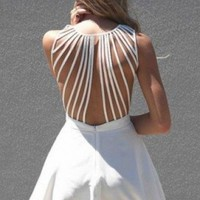 White Suspense Dress- $59