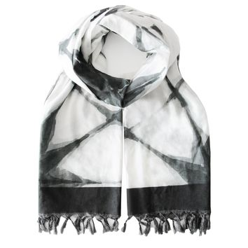 Summer Blanket Scarf - Shibori Black
