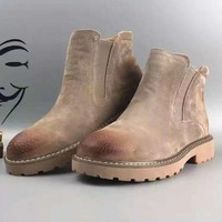 CHEN1ER Autumn and Winter Boots Snow Boots for Women and Men Martin UGG Boots Khaki