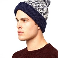ASOS Bobble Beanie Hat with Fleece Lining