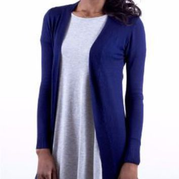 Biege Long Sleeve Relaxed Fit Cardigan