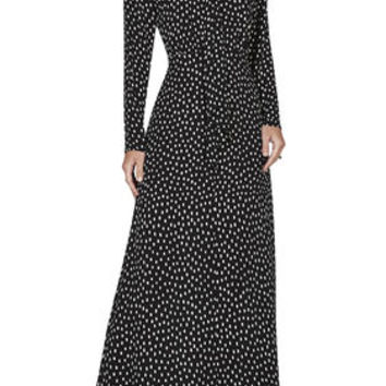 BCBG Alicha Tie-Neck Gown