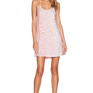 MLV Terra Beaded Tank Dress in Light Pink
