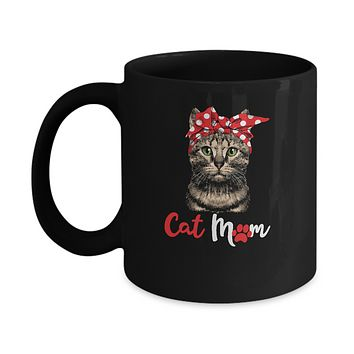 Funny Cat Mom For Cat Lovers Mothers Day Gift Mug