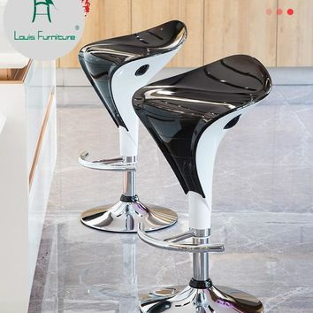 Louis Fashion Bar Chair Lift Tables Modern Minimalist Creative Stool Home High