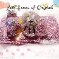 Crystal Sales - Bling Bling Style Wallet /Purse With 3D Crystal Kitty