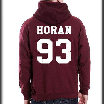 Horan 93 White ink printed on back Unisex Pullover Hoodie S to 3XL