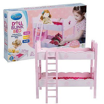 Doll Bunk Bed by Svan - Perfect for Your Beloved Dolls or Stuffed Toys