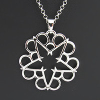 Black Veil Brides tour merch logo pendant necklace jewelry in the end rock hard metal
