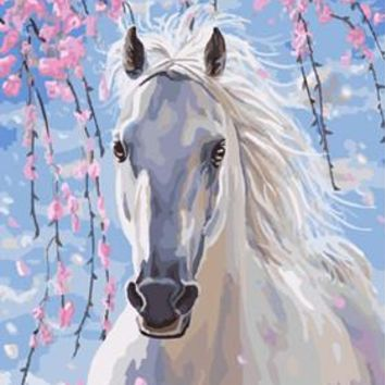 DIY Oil Painting Frameless picture on wall acrylic painting abstract oil painting unique gift paint by numbers Horses