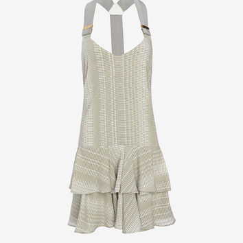 Derek Lam 10 Crosby EXCLUSIVE Sage Print Ruffle Dress at INTERMIX | Shop Now | Shop IntermixOnline.com