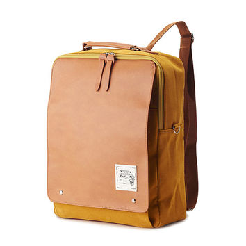 New Square Backpack (Mustard)