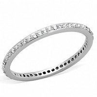 Amelie's Thin Silver Cubic Zirconia Eternity Ring