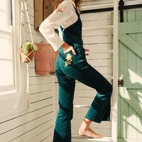 Ginger Cord Overalls in Teal