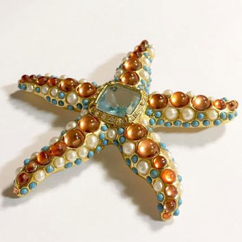Vintage Kenneth J Lane Starfish Brooch
