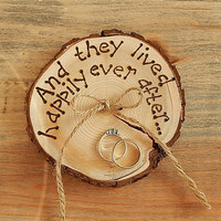 RUSTIC ring bearer pillow Romantic country Wedding decoration.
