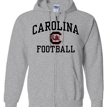 Official NCAA University of South Carolina Fighting Gamecocks USC COCKY SC Football Basic Zip Hoodie - SC004