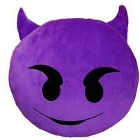 B2- DEVIL EMOJI PILLOW