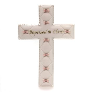 Religious Baptized In Christ Wall Cross Sign / Plaque