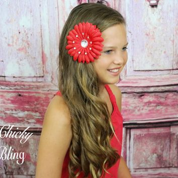 Girls Gerbera Daisy Hair Flower Clips