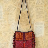 Free People Vintage Embroidered Fringe Bag