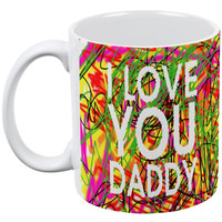 Father's Day - I Love You Daddy Scribble Coffee Mug