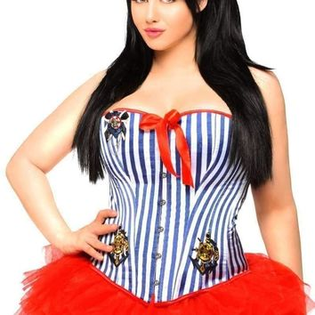 d0339a179be Daisy Corset 3 PC Retro Pin-Up Sailor Costume with Skirt