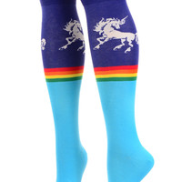 Over the Rainbow Unicorn Knee Socks