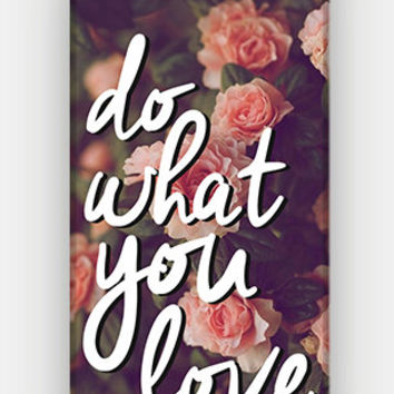 Do What You Love - Vintage Floral - Full printed case for iPhone - by HeartOnMyFingers - CMB-341