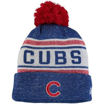 0c312c02156 Men s Chicago Cubs New Era Royal Toasty Cover Cuffed Knit Hat wi