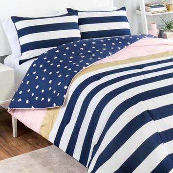 Vue® Glam Stripe Reversible Comforter Set
