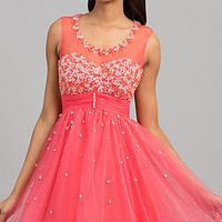 Jewel Embellished Short Sleeveless Dress