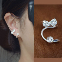 Fashion Bowknot Ear Clip Earrings