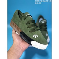 KUYOU A266 Adidas x Alexander Wang Suede Thick Bottom Plate Shoes Green