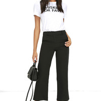 Pick Up the Slack Black Cropped Pants