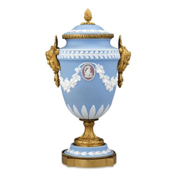 Antique Porcelain, Wedgwood, Tricolor Jasper Vase at rauantiques.com