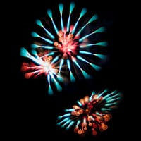 Creative Long Exposure Fireworks Art Print by BluFyre Productions