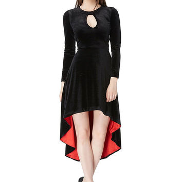 The Vampire's Muse Black Velvet Dress